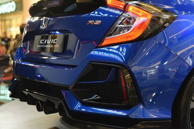 Belakang honda civic rs